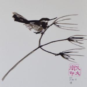 "18. Hummingbird: 7""x7"""